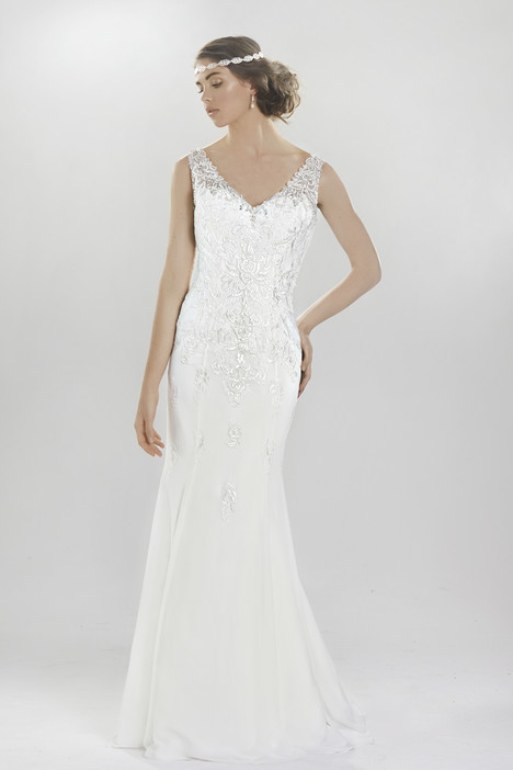 6410 gown from the 2016 Lillian West collection, as seen on Bride.Canada