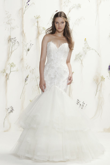 6416 gown from the 2016 Lillian West collection, as seen on Bride.Canada