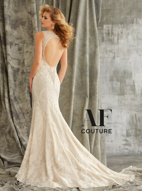 1352 (back) gown from the 2015 Morilee AF Couture collection, as seen on Bride.Canada