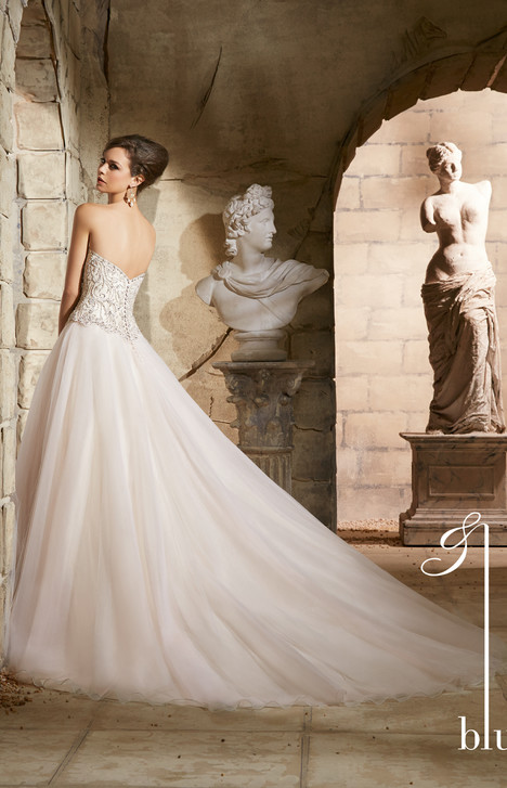 5373 (back) gown from the 2015 Morilee Blu collection, as seen on Bride.Canada