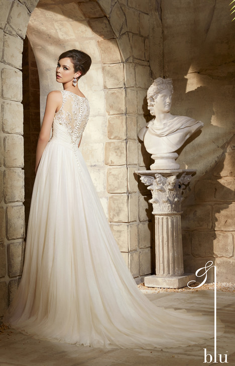 5374 (back) gown from the 2015 Morilee Blu collection, as seen on Bride.Canada