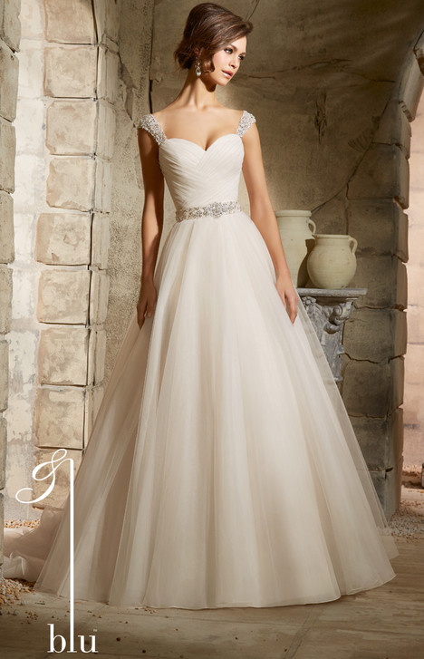 5375 gown from the 2015 Morilee Blu collection, as seen on Bride.Canada