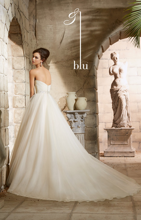 5375 (back) gown from the 2015 Morilee Blu collection, as seen on Bride.Canada