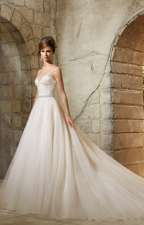5376 gown from the 2015 Morilee Blu collection, as seen on Bride.Canada