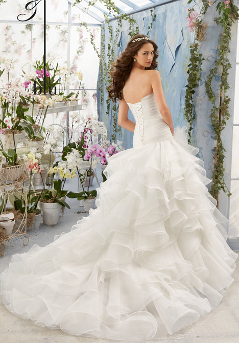 5412 (back) gown from the 2016 Morilee Blu collection, as seen on Bride.Canada