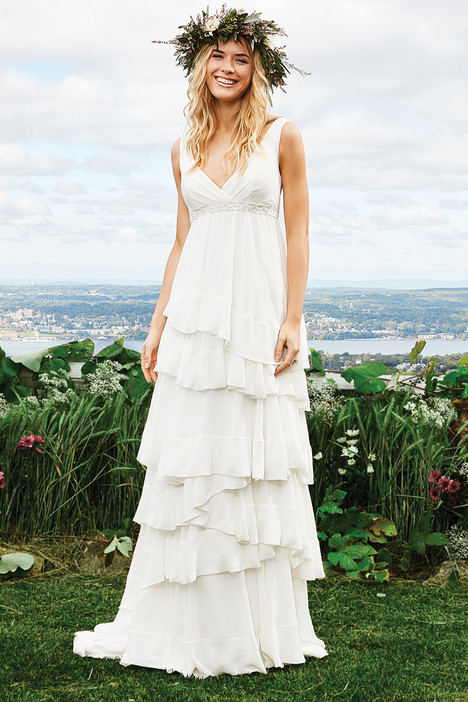 6424 gown from the 2016 Lillian West collection, as seen on Bride.Canada