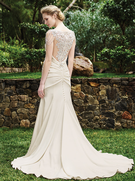 2253 Olive (back) gown from the 2016 Casablanca Bridal collection, as seen on Bride.Canada