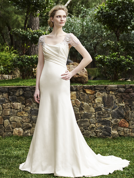2253 Olive gown from the 2016 Casablanca Bridal collection, as seen on Bride.Canada