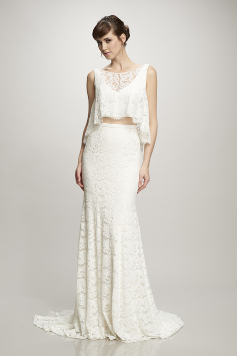 890269 (top + skirt) gown from the 2016 Theia White Collection collection, as seen on Bride.Canada