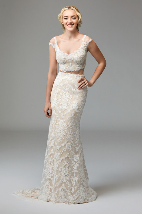 57123 (top) + 57124 (skirt) gown from the 2016 Watters: Willowby collection, as seen on Bride.Canada
