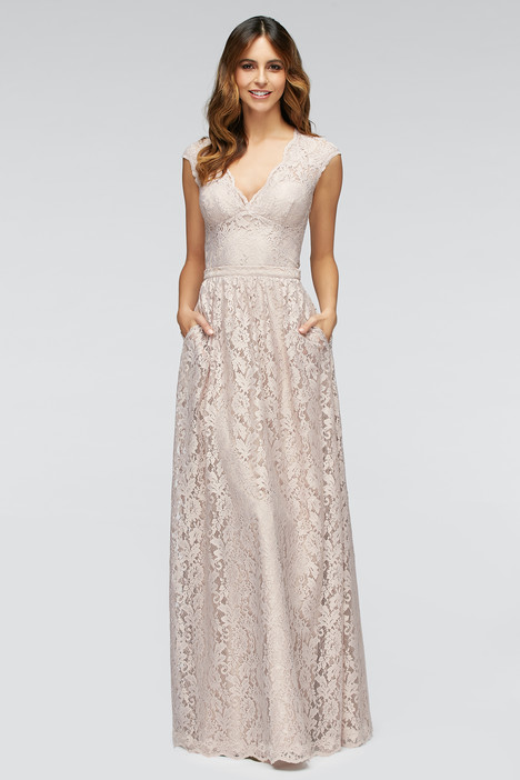 80201 (latte) + 80202 (blush) gown from the 2016 Watters Bridesmaids collection, as seen on Bride.Canada
