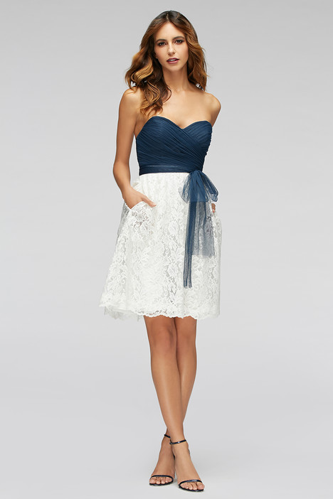 80300 (indigo & white) gown from the 2016 Watters Bridesmaids collection, as seen on Bride.Canada