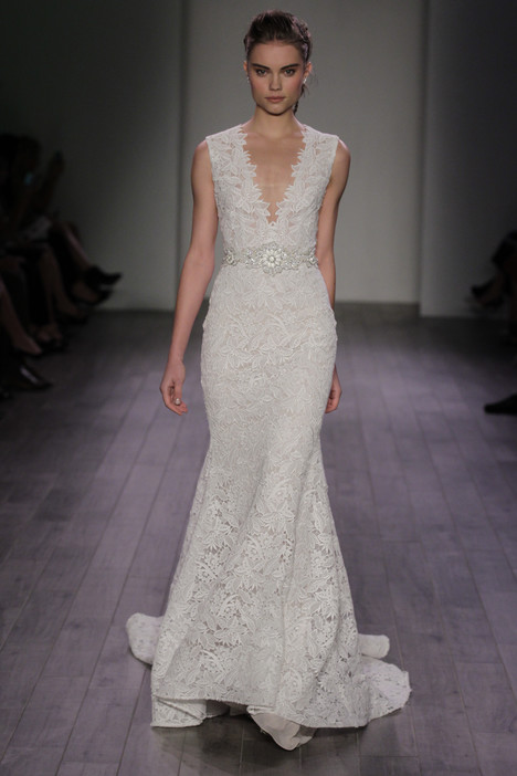 3611 gown from the 2016 Lazaro collection, as seen on Bride.Canada