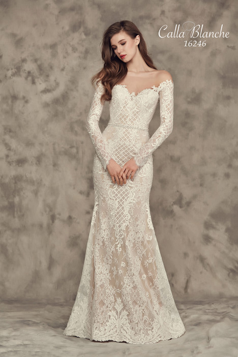 16246 gown from the 2016 Calla Blanche collection, as seen on Bride.Canada
