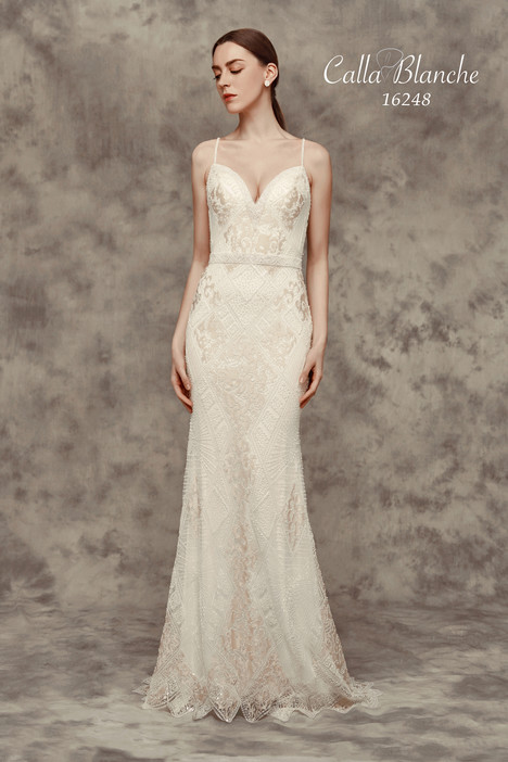 16248 gown from the 2016 Calla Blanche collection, as seen on Bride.Canada