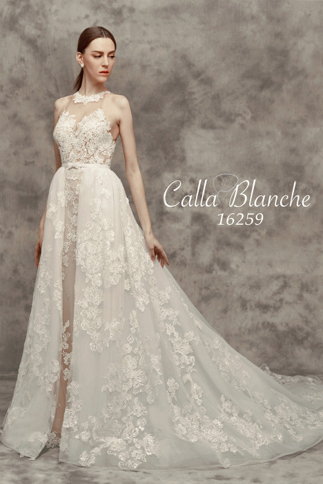 16259 (+ overskirt) gown from the 2016 Calla Blanche collection, as seen on Bride.Canada