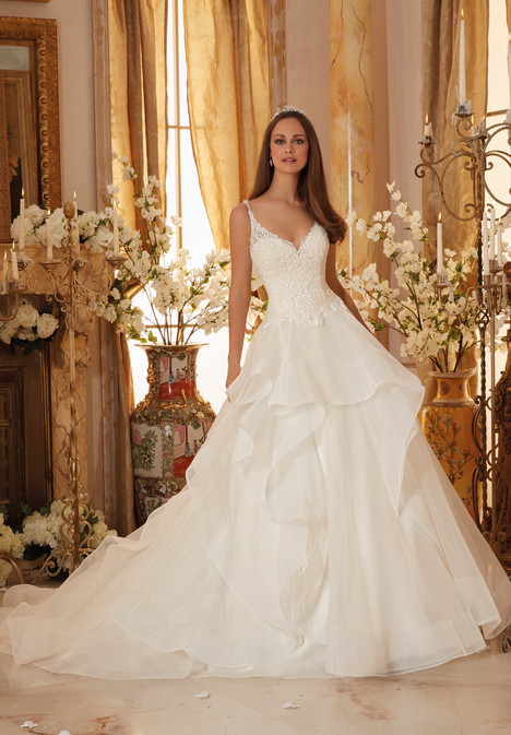 5465 gown from the 2016 Morilee Blu collection, as seen on Bride.Canada