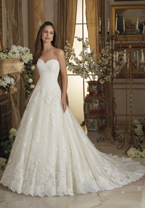 5473 gown from the 2016 Morilee Blu collection, as seen on Bride.Canada