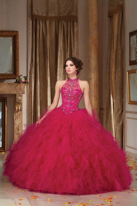 89103 (fuchsia) gown from the 2016 Morilee Vizcaya collection, as seen on Bride.Canada