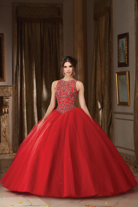 89106 (scarlet) gown from the 2016 Morilee Vizcaya collection, as seen on Bride.Canada