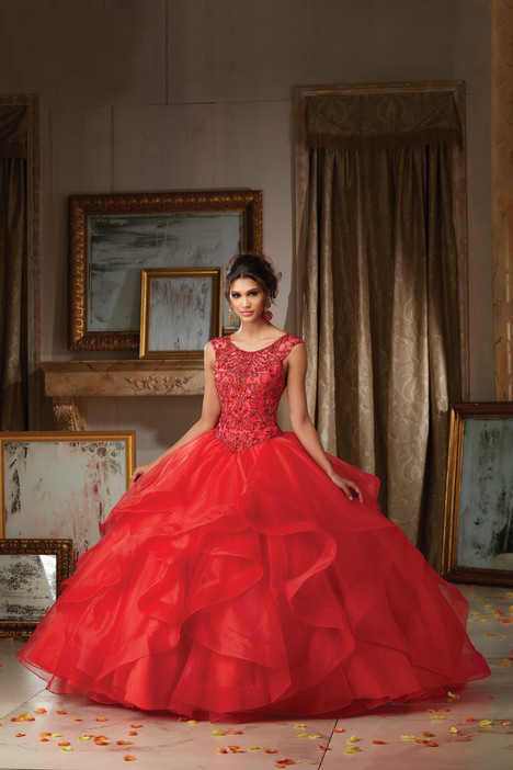 89117 (red) gown from the 2016 Morilee Vizcaya collection, as seen on Bride.Canada