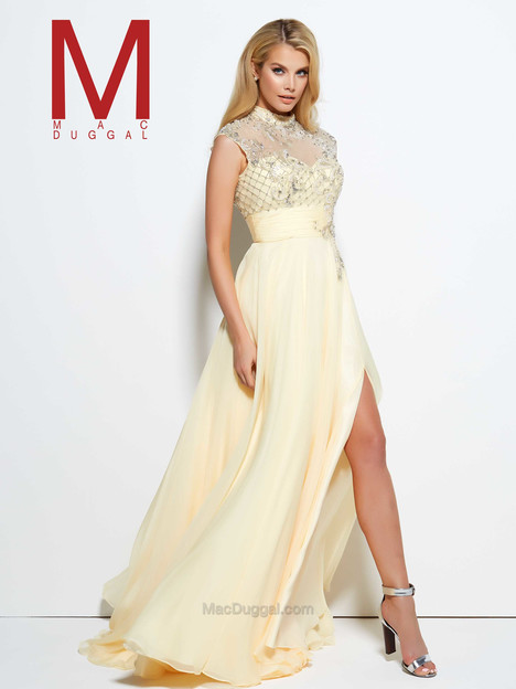 10030M (buttercup) gown from the 2016 Mac Duggal Prom collection, as seen on Bride.Canada