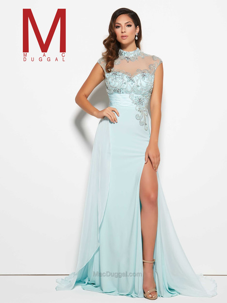 10075M (ice blue) gown from the 2016 Mac Duggal Prom collection, as seen on Bride.Canada
