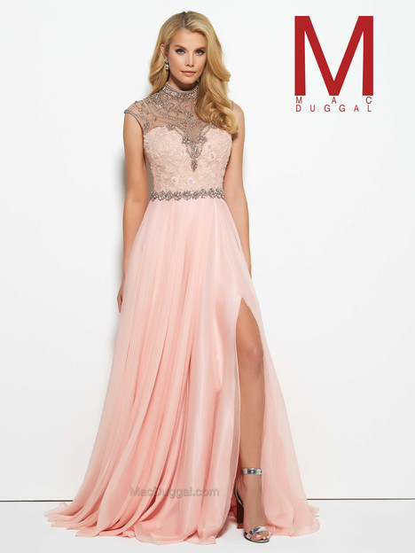 10079M (blush) gown from the 2016 Mac Duggal Prom collection, as seen on Bride.Canada