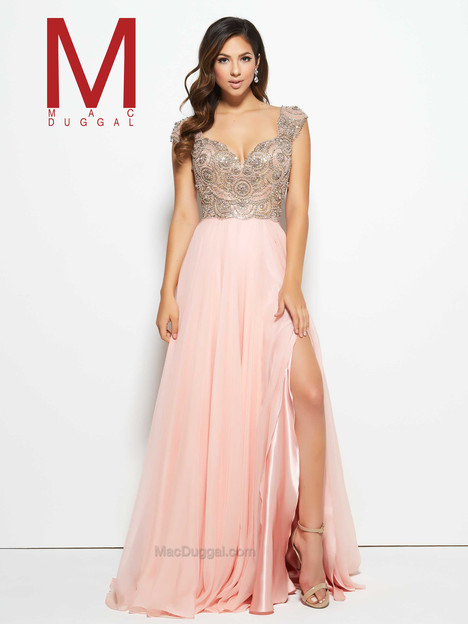 10081M (blush) gown from the 2016 Mac Duggal Prom collection, as seen on Bride.Canada