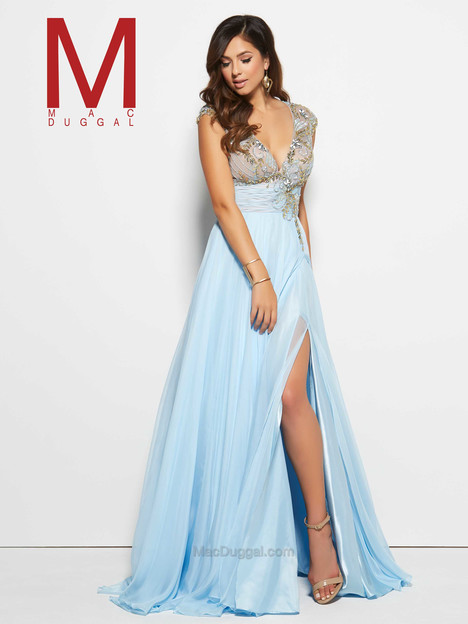 10083M (ice blue) gown from the 2016 Mac Duggal Prom collection, as seen on Bride.Canada