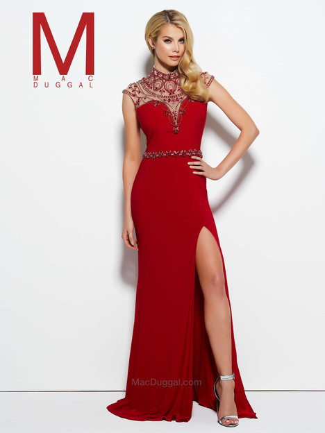 10093M (red) gown from the 2016 Mac Duggal Prom collection, as seen on Bride.Canada