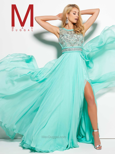 10095M (mint) gown from the 2016 Mac Duggal Prom collection, as seen on Bride.Canada