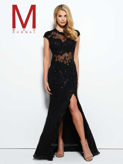 1903M (black) gown from the 2016 Mac Duggal Prom collection, as seen on Bride.Canada