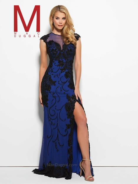 1988M (royal) gown from the 2016 Mac Duggal Prom collection, as seen on Bride.Canada
