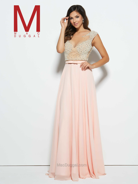 20046M (blush) gown from the 2016 Mac Duggal Prom collection, as seen on Bride.Canada