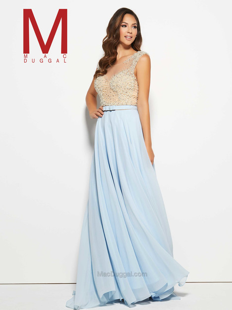 20046M (ice blue) gown from the 2016 Mac Duggal Prom collection, as seen on Bride.Canada