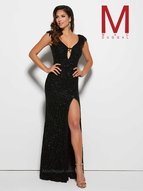 4331M (black) gown from the 2016 Mac Duggal Prom collection, as seen on Bride.Canada