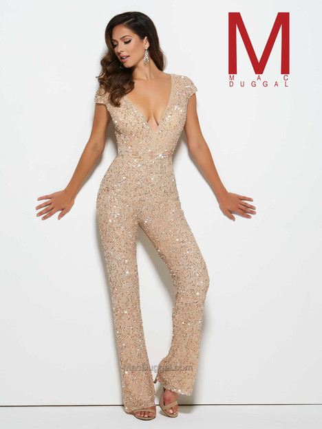 4378M (nude) gown from the 2016 Mac Duggal Prom collection, as seen on Bride.Canada