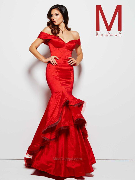 48189M (red) gown from the 2016 Mac Duggal Prom collection, as seen on Bride.Canada