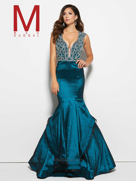 48409M (peacock) gown from the 2016 Mac Duggal Prom collection, as seen on Bride.Canada