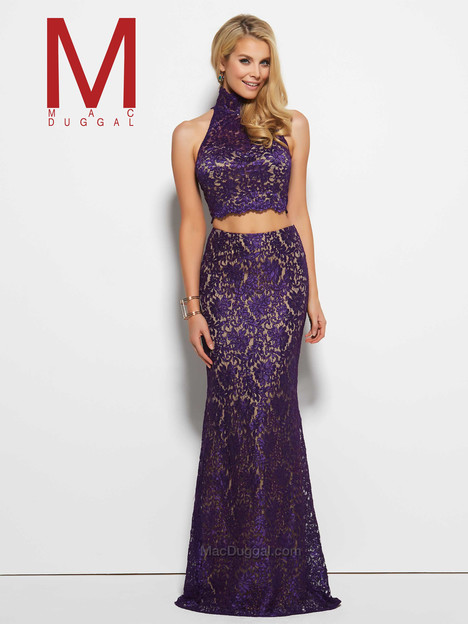 61848M (purple) gown from the 2016 Mac Duggal Prom collection, as seen on Bride.Canada