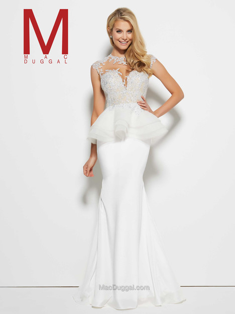 62093M (Ivory) gown from the 2016 Mac Duggal Prom collection, as seen on Bride.Canada