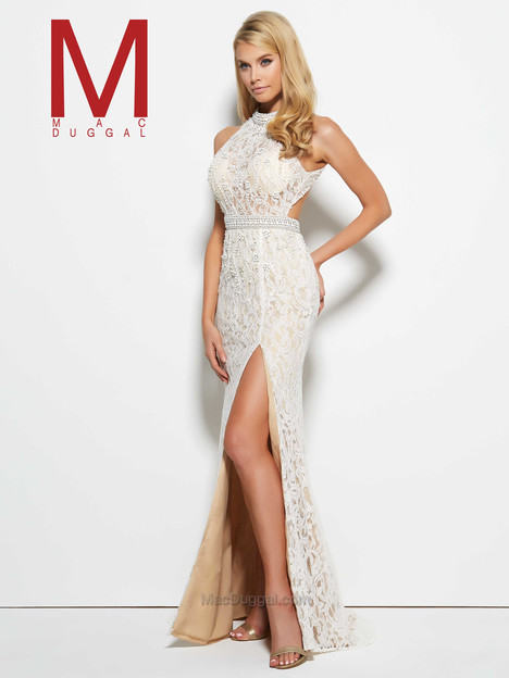 62343M (ivory& nude) gown from the 2016 Mac Duggal Prom collection, as seen on Bride.Canada