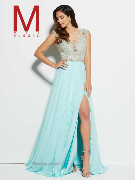 62503M (aqua) gown from the 2016 Mac Duggal Prom collection, as seen on Bride.Canada