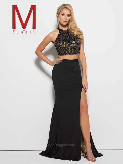 65401M (black & nude) gown from the 2016 Mac Duggal Prom collection, as seen on Bride.Canada