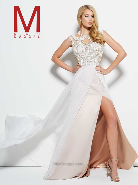 65548M (ivory & gold) gown from the 2016 Mac Duggal Prom collection, as seen on Bride.Canada