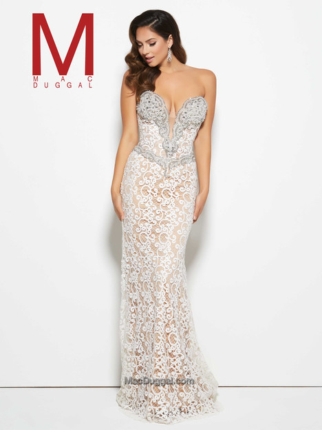 65564M (ivory & nude) gown from the 2016 Mac Duggal Prom collection, as seen on Bride.Canada