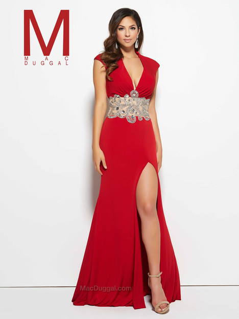 82228M (red) gown from the 2016 Mac Duggal Prom collection, as seen on Bride.Canada