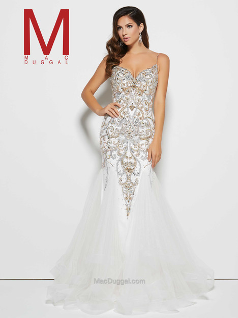 82517M (ivory & gold) gown from the 2016 Mac Duggal Prom collection, as seen on Bride.Canada
