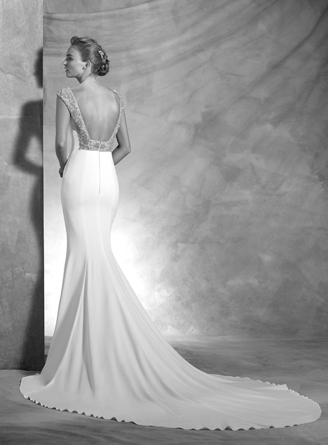 Vanila (back) gown from the 2017 Pronovias Atelier collection, as seen on Bride.Canada